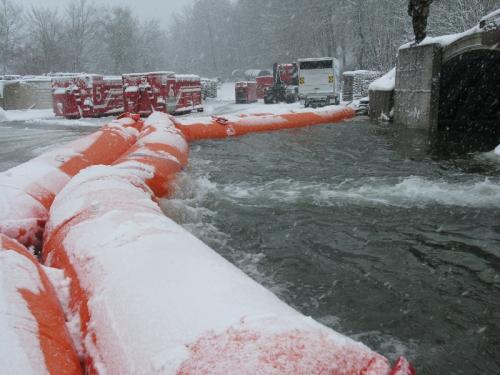 BEAVER flood barrier in Switzerland.