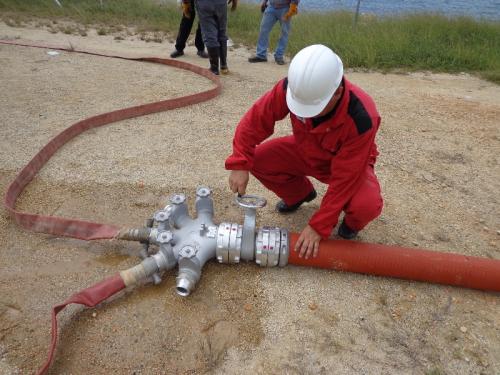 HYTRANS 150mm / 6 inch hose network deployment.