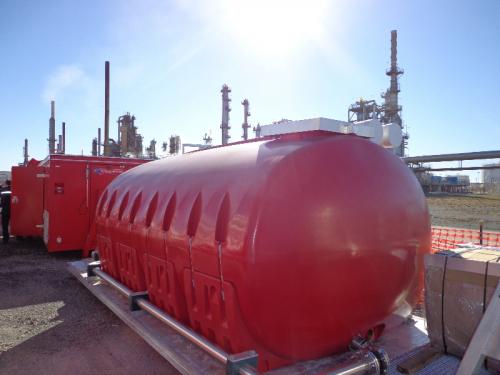 <p>FoamPod, 13,000 litre HDPE foam storage.</p>