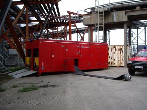 Hytrans unit ready to pump 24,000 litres per minute.