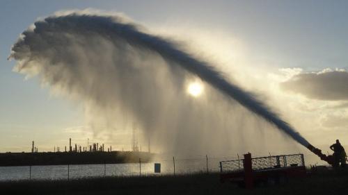 Alco monitor returns 40,000 litres per minute to Brisbane River.