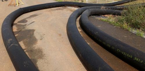 <p>Brisbane, Australia, 2012. 300mm / 12 inch large diameter hose x 3 lines.</p>