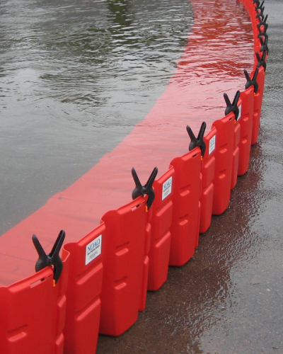 Boxwall BW50 mobile flood barrier.