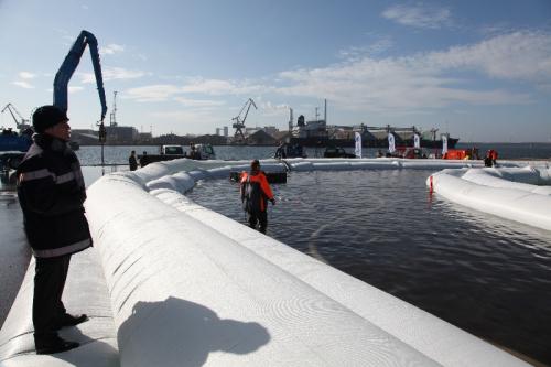 Danish flood barrier system.