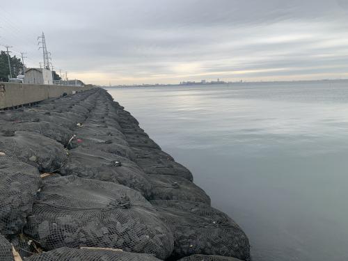 rock bag coastal shoreline protection