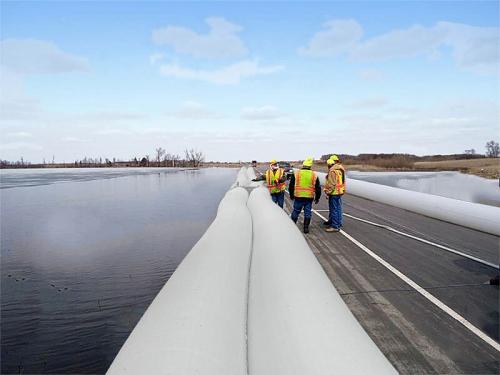 Road used for NoFloods flood barrier