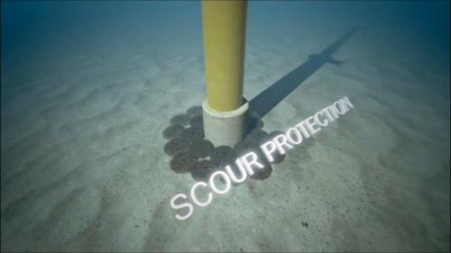 Rock Bags - pylon scour protection