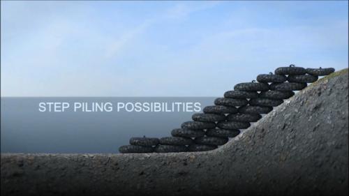 Rock Bags - step piling